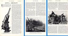 1915 WWI ~  ANTI AIRCRAFT GUNS ~ KRUPPS DIFFERENTIAL RECOIL GERMAN MACHINE GUNS