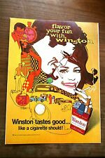 Pub Ad tabac cigarettes WINSTON  1968