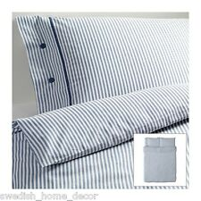 IKEA BLUE Classic Ticking Stripe Cottage Duvet Quilt Cover Full Queen Nyponros