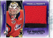 2011-12 ITG Heroes & Top Prospects DAVID HONZIK 2 Color Jersey Patch RC Expo 1/1
