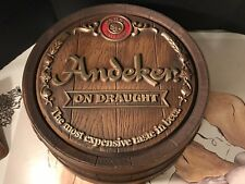 Vintage Andeker Barrel Sign( Pabst Brewing Co.) Excellent Condition Early 1970's