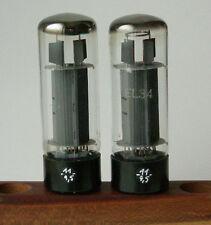 2 Tube lampe EL34 EL 34 6CA7 MULLARD Blackburn XF4 used testing like NOS
