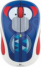 Logitech M325c Wireless Optical Mouse Marc Monkey red/blue/white