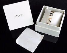 Escada  Armreif Armband mit Leder BOX Sterlingsilber 925 vergoldet  NEU!UVP:319€