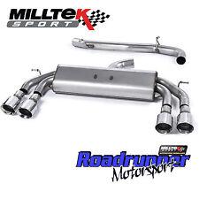 MILLTEK SSXVW408 GOLF R MK7 Cat Indietro Scarico Race non RES non VALVOLA POLACCO GT100