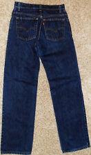LEVIS 555 JEANS Vintage Guy's Fit Dark Blue Denim Pants - Junior Women 9 XXL USA
