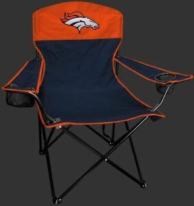 DENVER BRONCOS LINEMAN Quad Folding Chair [NEW] NFL Travel Tailgate