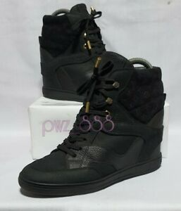 LOUIS VUITTON Invisible Wedge Sneakers Shoes Size 37