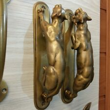 2 Set Tiger Brass Privacy Pull Hand Entry Vintage Home Decor Living Door Handle