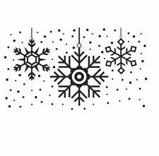Wall Stickers Christmas Xmas snowflakes ball largesize vinyl decal decor Nursery