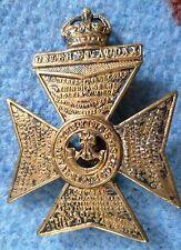 Badge- VINTAGE King's Royal Rifle Corps Cap Badge -KC (All BRASS, Org*) Slider
