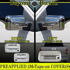 2004-2008 F150 Chrome Door Handles Mirror Tailgate Covers W/PSK W/O Keypad 2Door