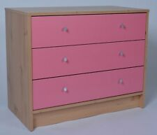 Pink Chest Of Drawers Pine Three 3 Drawers Storage Wood Wooden