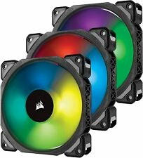 LOT OF 6 Corsair RGB Case fans with fan controllers LL120 + ML120 PRO
