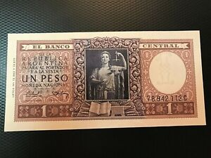 1956 (ND) ARGENTINA UN PESO NOTE NICE UNCIRCULATED