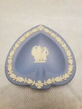 Wedgwood Jasperware decorative collectible spade plate trinket tray dish in blue