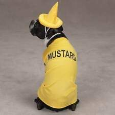 Casual Canine MUSTARD Dog Halloween Costume Hook & Loop Closures Bright Yellow