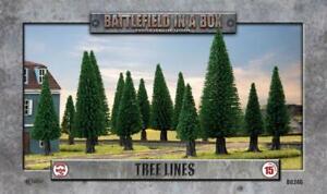 BATTLEFIELD IN A BOX: FLAMES OF WAR - TREELINES X4 - BB246
