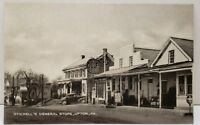 UPTON PA STICKELL'S GENERAL STORE GULF SIGN & GAS PUMPS ON RTE 16  Postcard D5