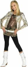 Hannah Montana W/gold Jacket Deluxe Costume Small Child Clothes Size 4-6 _ NEW