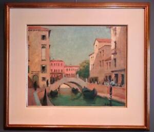 Bernard Harrison (1871-1956)  Original signed ITALIAN Oil painting VENICE ITALY