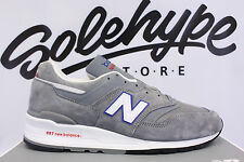 NEW BALANCE 997 MADE IN USA CLASSIC GREY BLUE RED SILVER M997CNR SZ 10