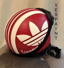 Casco Vespa Vintage retrò personalizzato in pelle completo di adidas S M L XL