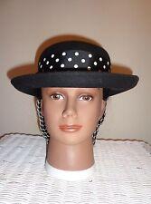 Ladies Civil War Reenactor BollMan Wool Hat with Ribbon/Bow