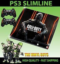 PLAYSTATION PS3 SLIM STICKER COD BLACK OPS III CALL OF DUTY BO3 SKIN + PAD SKINS