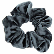 Claire's Girl's Oversized Velvet Hair Scrunchie - Slate Grey Gray