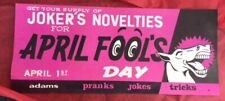 Ss Adams Jokers novelties for April Fool's Laughing Donkey store display rare Vg