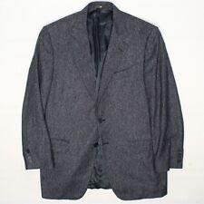 Zanella Malcom Hombre Abrigo Deportivo 42R Azul Donegal Tweed Seda Lana Cachemir