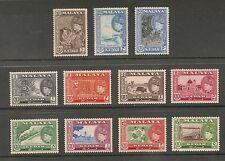 Malaya Kedah #83-93 VF MLH - 1957 1c To $5 Sultan Badlishah - CV $108.80