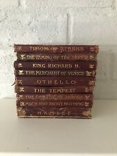 9 Vintage Leather Books - The Temple Shakespeare