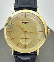 1956 LONGINES President McKinley Wristwatch 14K GOLD 17 Jewels Cal. 19.4 Swiss