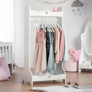 Haus Projekt Clothing Rail for Children, Girl's White Wooden Clothing Rack