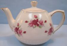 Ellgreave Teapot Woods & Sons Ironstone England Roses