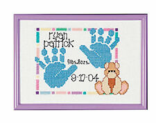 Cross Stitch Kit Janlynn Baby Handprints Birth Record for Boy or Girl #Sgp-0604