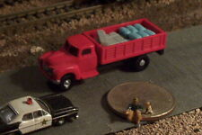 Stake bed Farm Truck with Load N Scale Vehicles (Red)