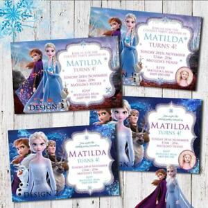 Personalised FROZEN 2 Elsa Anna Birthday Invitation Invites Party Photo Printed