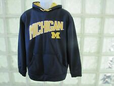 MEN'S MAJESTIC MICHIGAN WOLVERINES FOOTBALL LONG SLEEVE PULLOVER HOODIE SIZE MED
