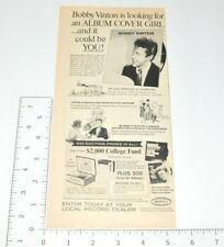 Bobby Vinton Album Cover Girl Contest 1960s Advertising 1966 Vintage Print Ad