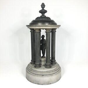 "Antique C19 Bronze & Marble Grand Tour Temple Diana — 11.5"" Tall 2.6kg VGC"
