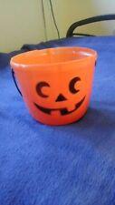plastic orange  pumpkin bucket