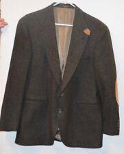 Evan Picone Men's Tweed Wool Blazer Suit Jacket Career Brown Fully Lined 40 reg
