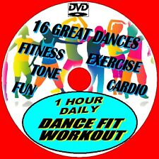 1 Hr Daily Dance Fit Workout Healthy Fun Fitness Aerobic Cardio Exercise DVD New