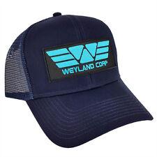 ALIEN Movie PROMETHEUS Weyland Corp Cyan Sci fi Patch Navy Trucker Mesh Cap Hat