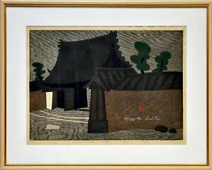 Saito Kiyoshi: Nishino-Kyo Nara. (1963). Sign. Orig.-Farbholzschnitt. Gerahmt.