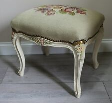 Vintage Louis style Dressing Stool with Tapastry Top