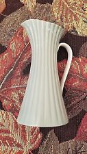 Lenox China BOUQUET green w/24K gold rim, ribbed & fluted creamer/pitcher/vase